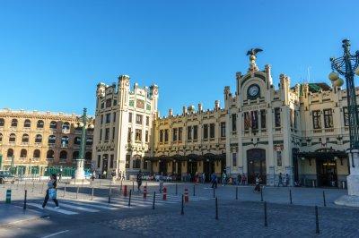 Estación de tren en Valencia