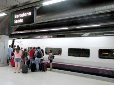 AVE Estació de Sants Barcelona interior