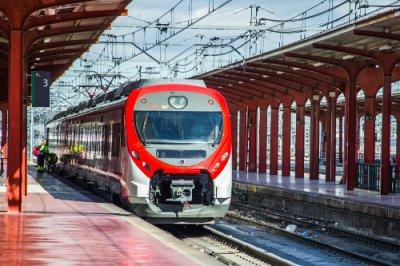 tren y vías AVE Madrid Chamartín
