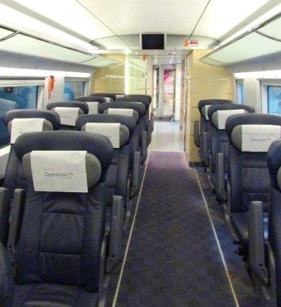 AVE Renfe interior asientos