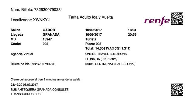 Cheap Gador To Granada Trains Tickets From 18 70 Trenes Com