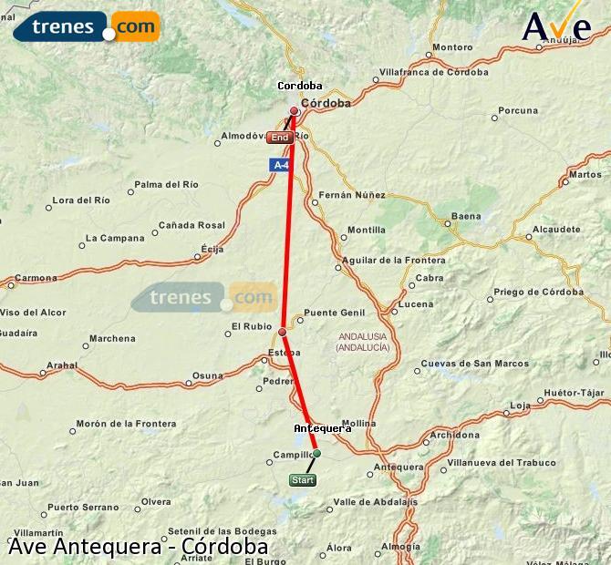 Karte vergrößern AVE Antequera Córdoba