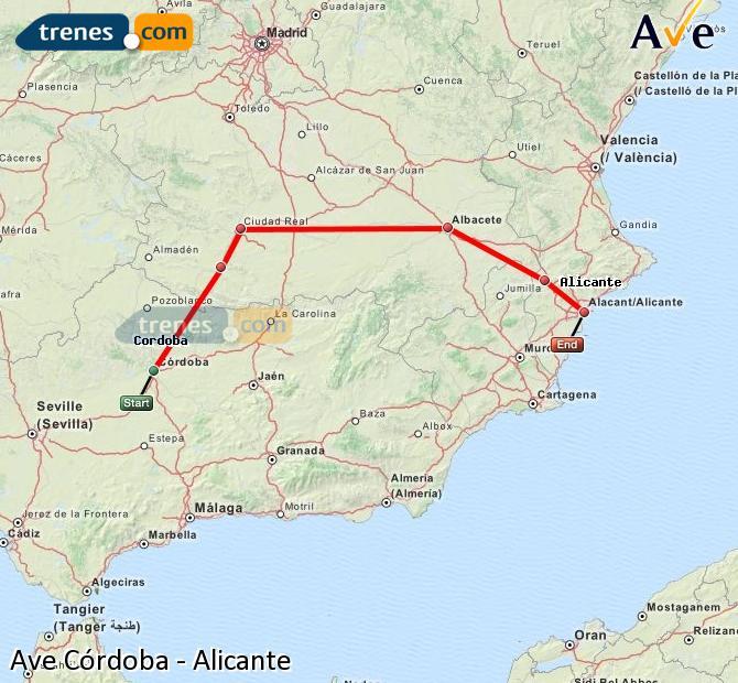AVE Córdoba Alicante