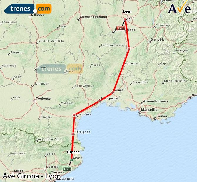 Ampliar mapa AVE Girona Lyon