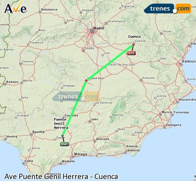 Ampliar mapa AVE Puente Genil Herrera Cuenca