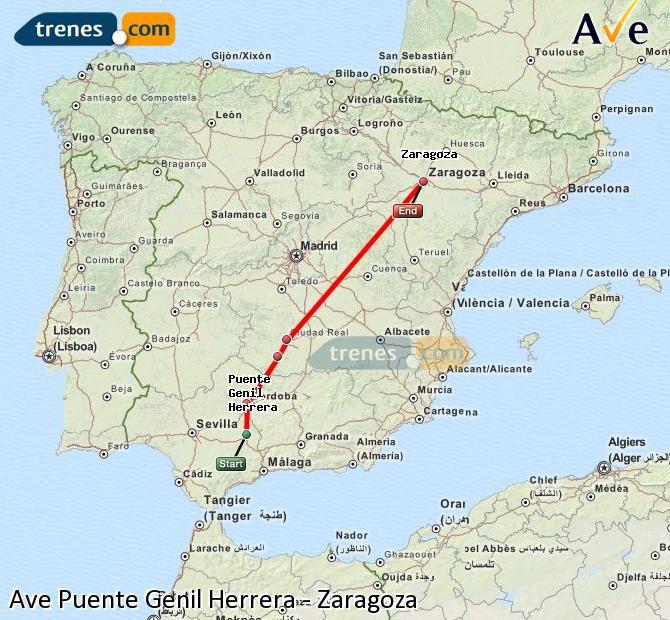 Ampliar mapa AVE Puente Genil Herrera Zaragoza