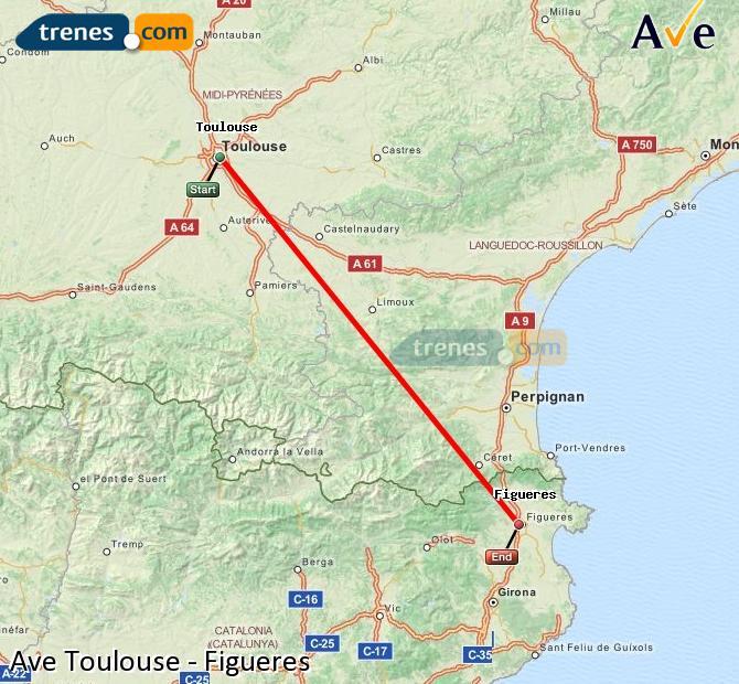 Ingrandisci la mappa AVE Tolosa Figueres