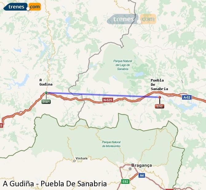 Ingrandisci la mappa Treni A Gudiña Puebla De Sanabria