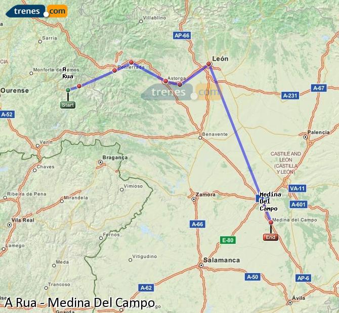 Ampliar mapa Trenes A Rua Medina Del Campo