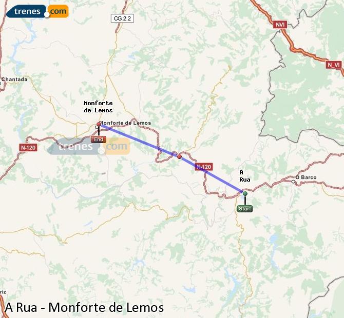 Ampliar mapa Trenes A Rua Monforte de Lemos