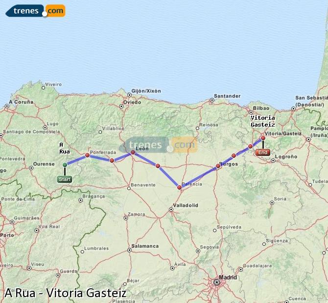 Agrandir la carte Trains A Rua Vitoria Gasteiz