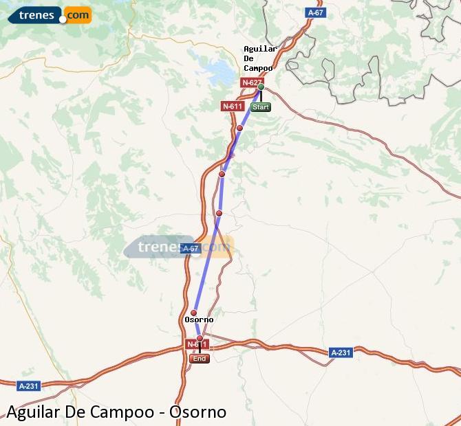 Ingrandisci la mappa Treni Aguilar De Campoo Osorno