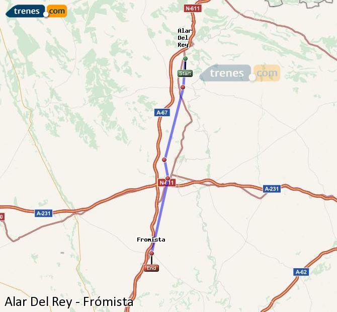 Karte vergrößern Züge Alar Del Rey Frómista