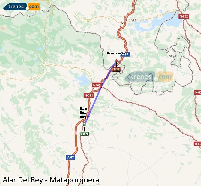 Enlarge map Trains Alar Del Rey to Mataporquera