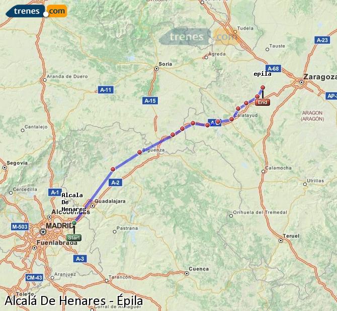 Ingrandisci la mappa Treni Alcalá De Henares Épila