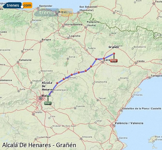Ingrandisci la mappa Treni Alcalá De Henares Grañén