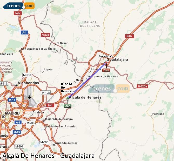 Karte vergrößern Züge Alcalá De Henares Guadalajara