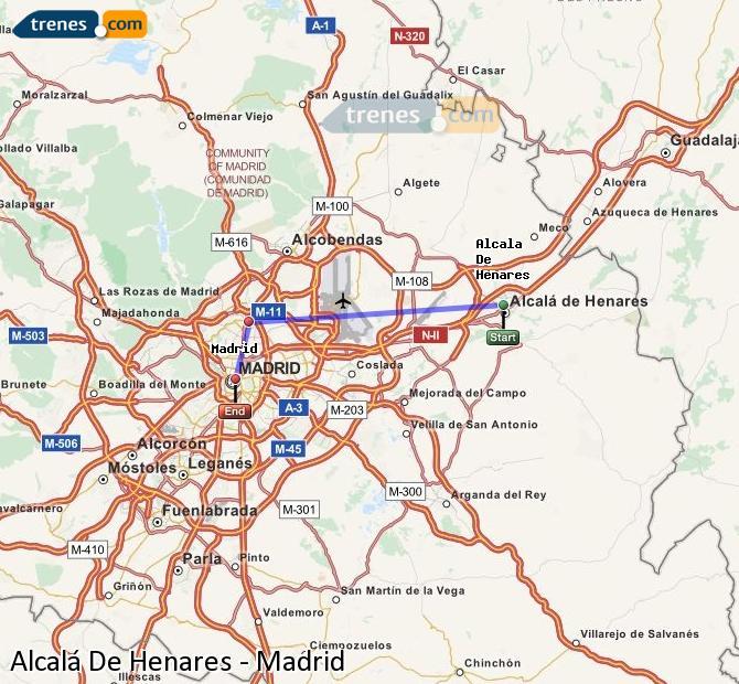 Karte vergrößern Züge Alcalá De Henares Madrid