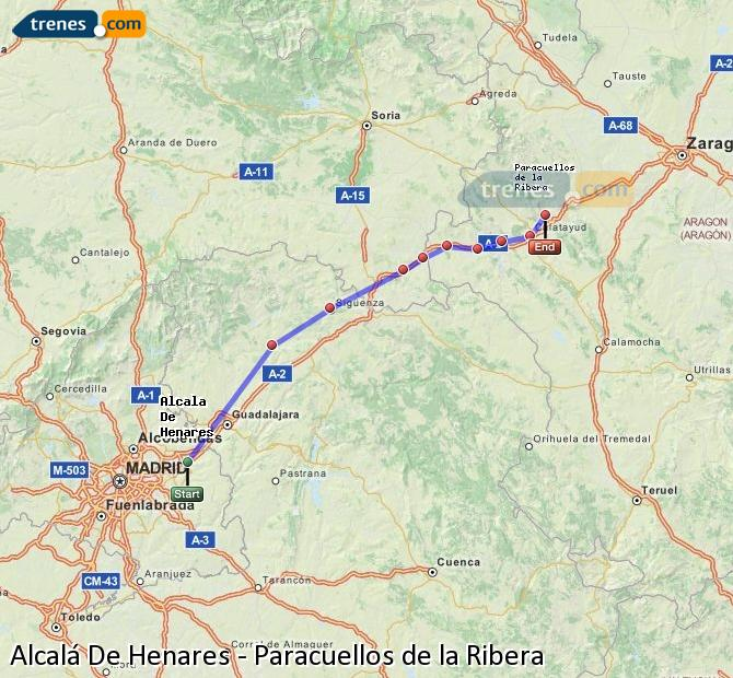 Ingrandisci la mappa Treni Alcalá De Henares Paracuellos de la Ribera