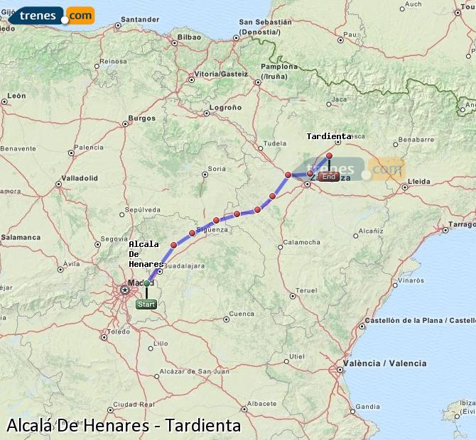 Ampliar mapa Comboios Alcalá De Henares Tardienta