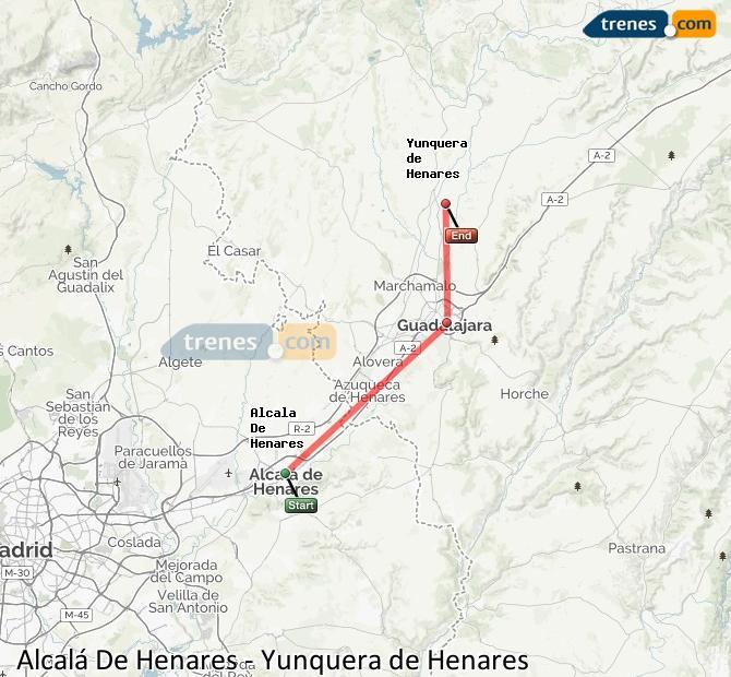 Ingrandisci la mappa Treni Alcalá De Henares Yunquera de Henares