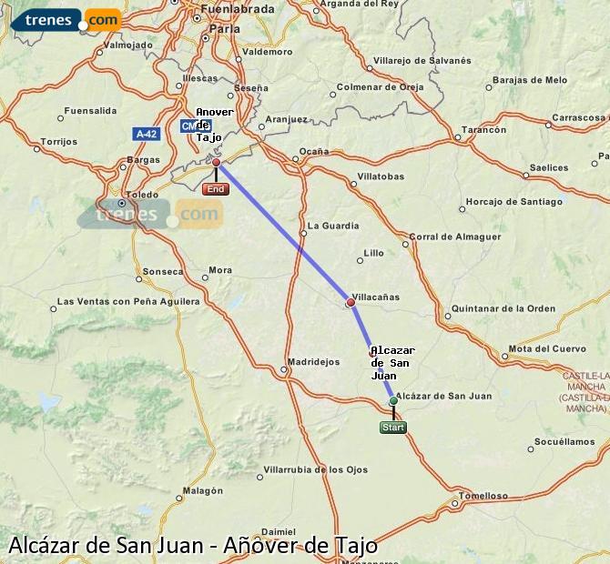 Ingrandisci la mappa Treni Alcázar de San Juan Añover de Tajo