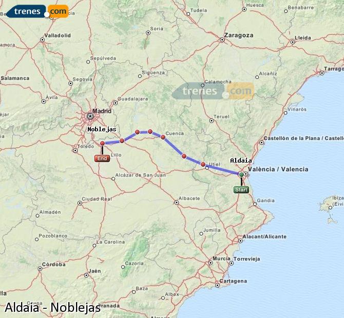 Ingrandisci la mappa Treni Aldaia Noblejas