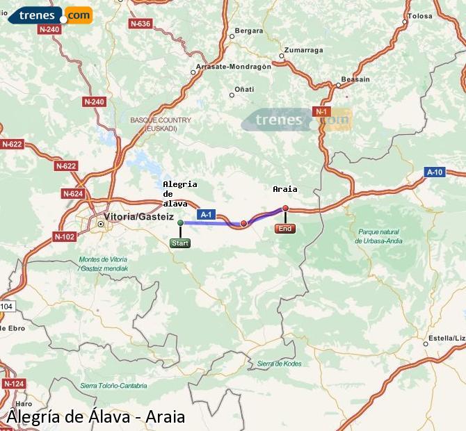 Ampliar mapa Trenes Alegría de Álava Araia