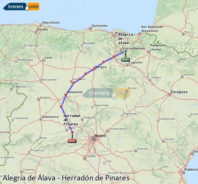 Ingrandisci la mappa Treni Alegría de Álava Herradón de Pinares