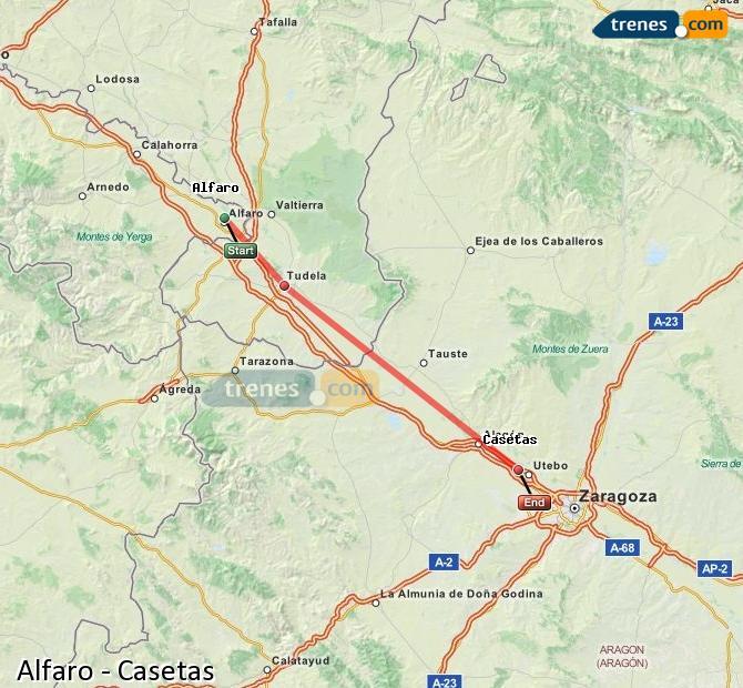 Ampliar mapa Comboios Alfaro Casetas