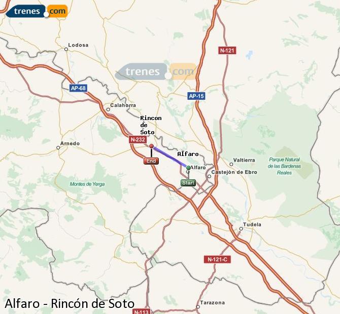 Ingrandisci la mappa Treni Alfaro Rincón de Soto