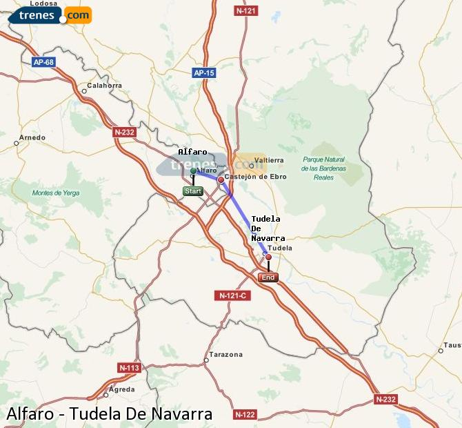 Karte vergrößern Züge Alfaro Tudela De Navarra