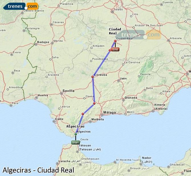 Ampliar mapa Trenes Algeciras Ciudad Real