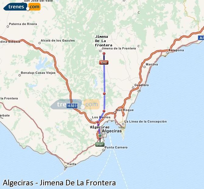 Ingrandisci la mappa Treni Algeciras Jimena De La Frontera