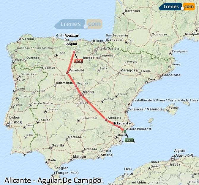 Ingrandisci la mappa Treni Alicante Aguilar De Campoo