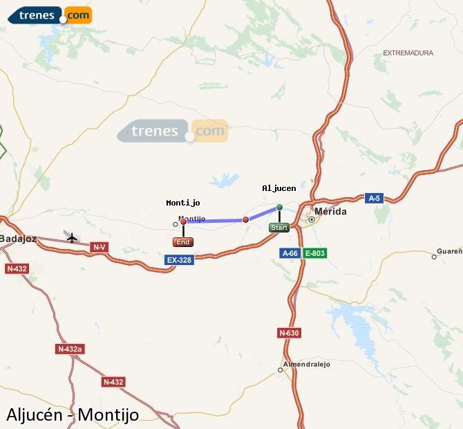 Ingrandisci la mappa Treni Aljucén Montijo