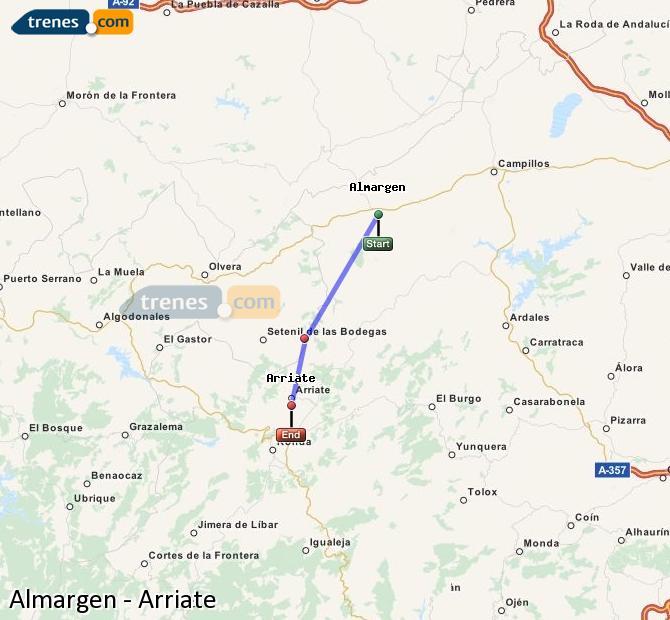 Ampliar mapa Trenes Almargen Arriate
