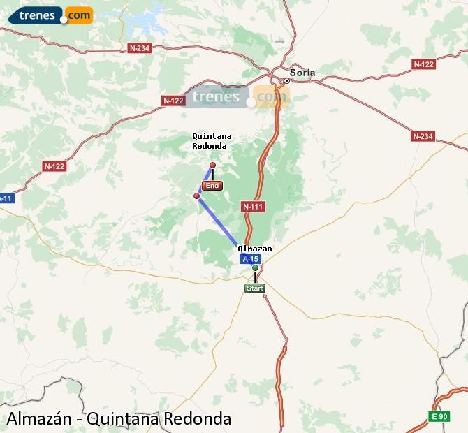 Karte vergrößern Züge Almazán Quintana Redonda
