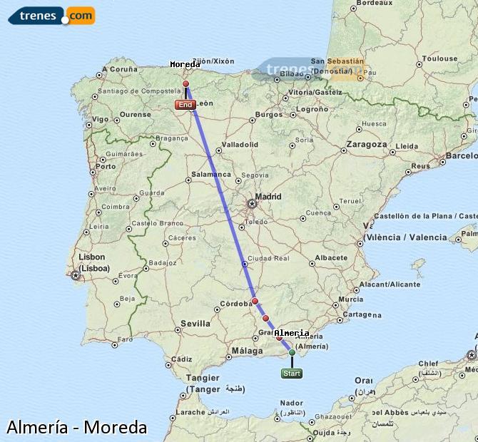 Ingrandisci la mappa Treni Almería Moreda