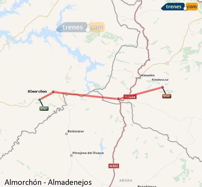 Ampliar mapa Comboios Almorchón Almadenejos