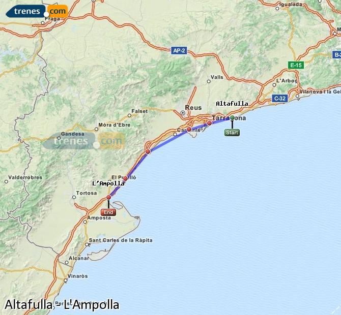 Ampliar mapa Trenes Altafulla L'Ampolla