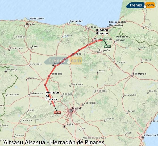 Ingrandisci la mappa Treni Altsasu Alsasua Herradón de Pinares