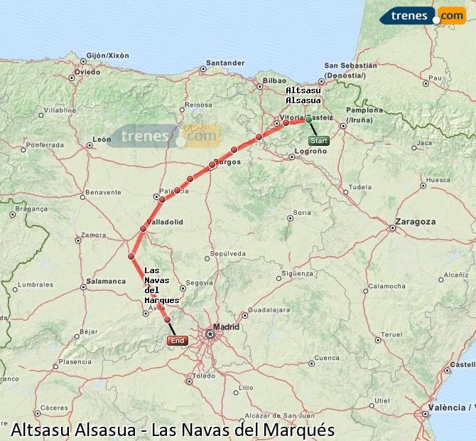Ingrandisci la mappa Treni Altsasu Alsasua Las Navas del Marqués