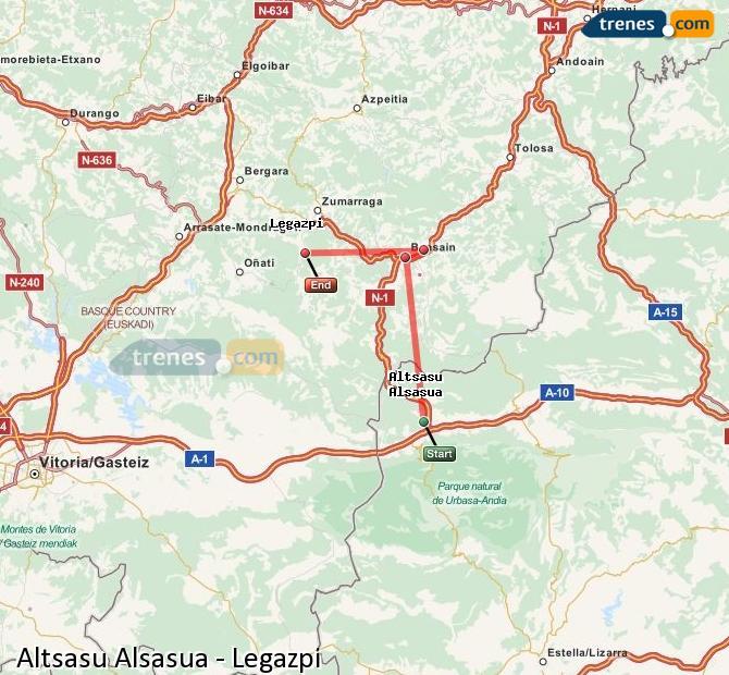 Ingrandisci la mappa Treni Altsasu Alsasua Legazpi