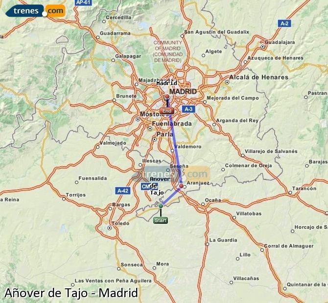 Ingrandisci la mappa Treni Añover de Tajo Madrid