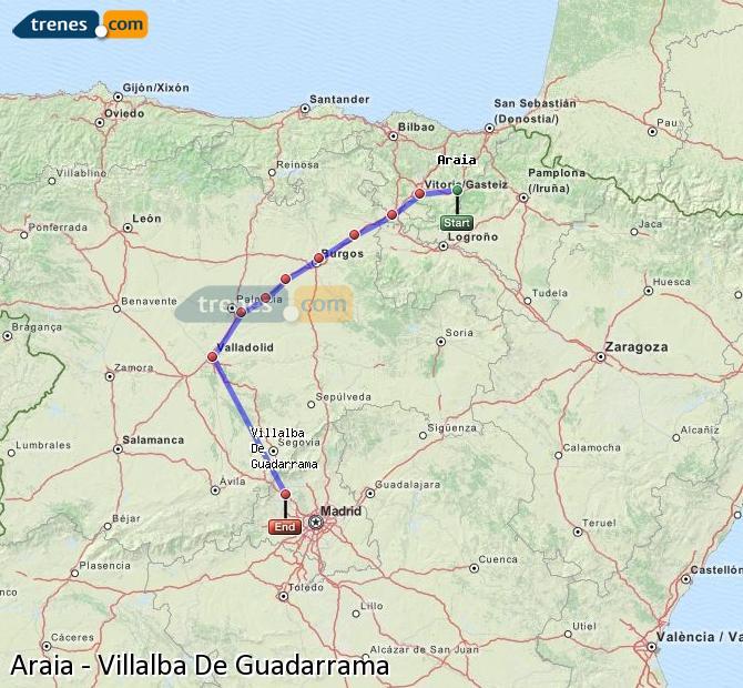 Ingrandisci la mappa Treni Araia Villalba De Guadarrama