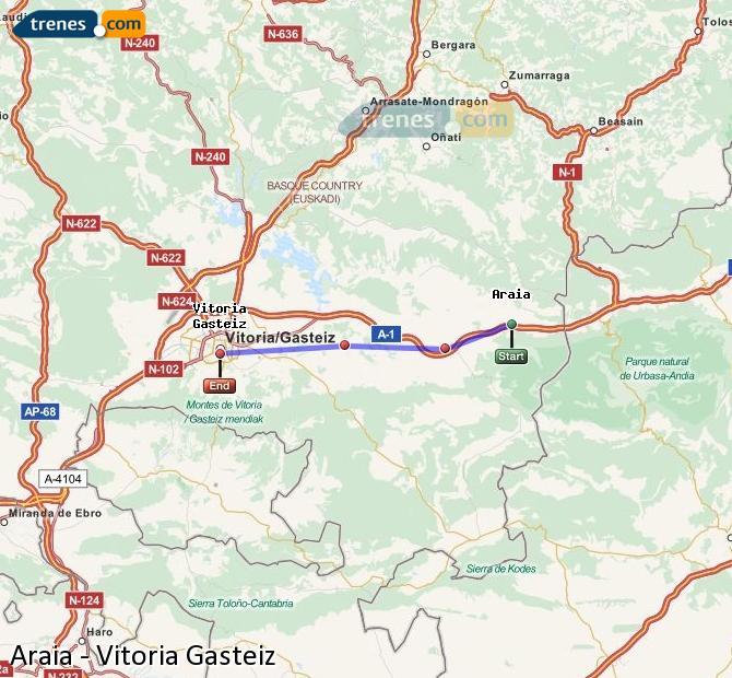 Ingrandisci la mappa Treni Araia Vitoria Gasteiz