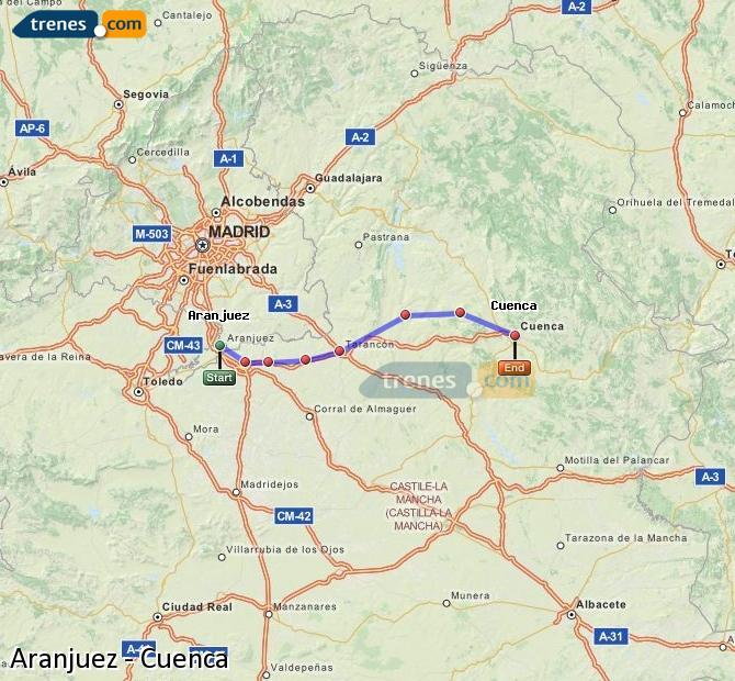 Ingrandisci la mappa Treni Aranjuez Cuenca