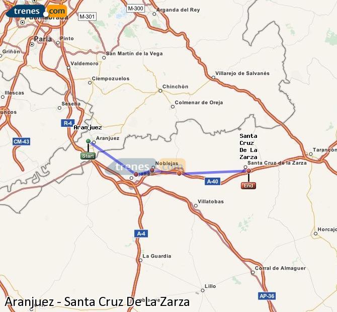 Ampliar mapa Trenes Aranjuez Santa Cruz De La Zarza