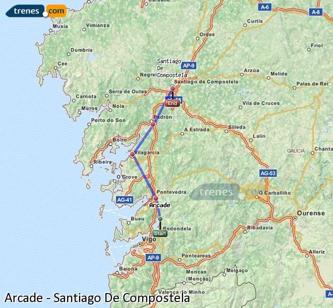 Karte vergrößern Züge Arcade Santiago De Compostela